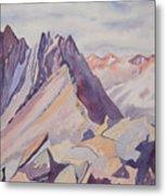 Watercolor - Near The Top Of Mount Sneffels Metal Print