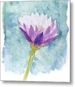 Watercolor Of Lotus Flower. Metal Print