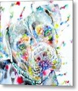 Watercolor Pit Bull.2 Metal Print