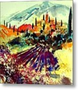 Watercolor  Provence 07 Metal Print