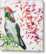 Watercolor - Rainbow Bearded Thornbill Metal Print
