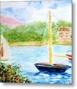 Watercolor Sail Metal Print