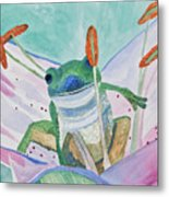 Watercolor - Tree Frog Metal Print