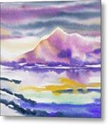 Watercolor - Winter Arctic Impression Metal Print