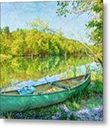 Watercolors At The Lake Metal Print