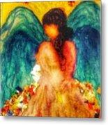 Watercolour Angel Metal Print