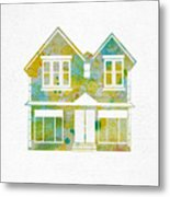 Watercolour House Metal Print