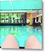Watercolour Painting Of Relaxation On Holiday Metal Print
