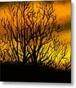 Watercolour Sunset Metal Print