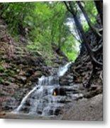 Waterfall And Natural Gas Metal Print