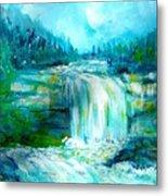Waterfall At Pont Espagna Metal Print