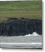 Waterfall At The Cliffs Of Moher Metal Print