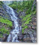 Waterfall Below The Garden Wall Metal Print