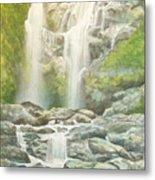 Waterfall Metal Print by Charles Hetenyi