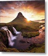 Waterfall Fantasy Metal Print