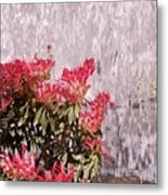 Waterfall Flowers Metal Print