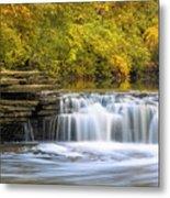 Waterfall Glen, Lemont, Il Metal Print