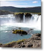 Waterfall - Godafoss Metal Print