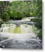 Waterfall In Cradle Mountain Metal Print