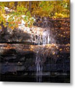 Waterfall In Creve Coeur Metal Print