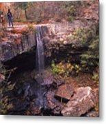 Waterfall In Fall - 1 Metal Print