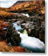Waterfall In Glencoe Metal Print