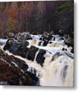 Waterfall In Scotland Metal Print