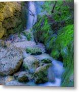 Waterfall In Soft Dream. Metal Print
