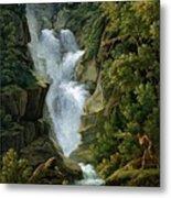 Waterfall In The Bern Highlands Metal Print by Joseph Anton Koch