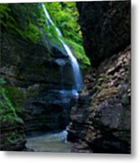 Waterfall In The Gorge Metal Print by Mike Horvath
