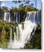 Waterfall In The Jungle Metal Print