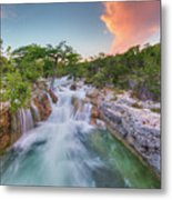 Waterfall In The Texas Hill Country 3 Metal Print