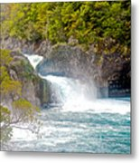 Waterfall In Vicente Perez Rosales National Park Near Puerto Montt-chile  Metal Print