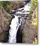 Waterfall In Yellowstone Metal Print
