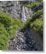 Waterfall Love Metal Print