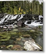 Waterfall Mcdonald Creek Metal Print