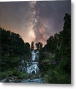 Waterfall Milky Way  Metal Print