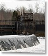 Waterfall Near The Railway Metal Print