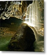Waterfall Of The Caverns Metal Print