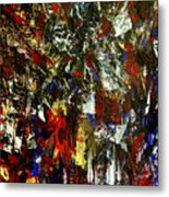Waterfall Of Wishes In Red Metal Print