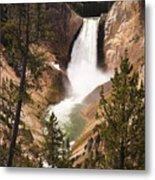 Waterfall Of Yellowstone Metal Print