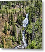 Waterfall On Lava Creek 1 Metal Print