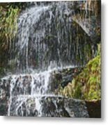 Waterfall On Mount Ranier Metal Print