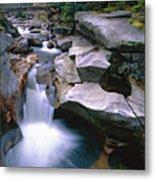 Waterfall On The Ammonoosuc River  Metal Print