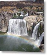 Waterfall Rainbow Metal Print