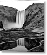 Waterfall Reflections Metal Print