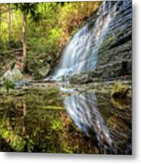 Waterfall Reflections Metal Print