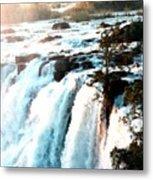 Waterfall Scene For Mia Parker - Sutcliffe L B Metal Print