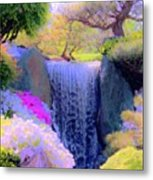 Waterfall Spring Colors Metal Print