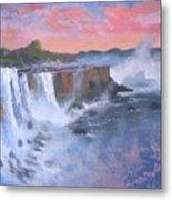 Waterfall Study Metal Print